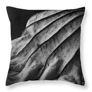 Black And White Lotus Leaf Throw Pillow