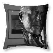 Black And White Mask Throw Pillow