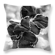 Black And White Maui Flowers Throw Pillow