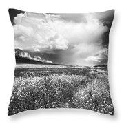 Black And White Meadow Throw Pillow