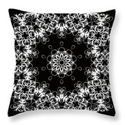 Black And White Medallion 1 Throw Pillow