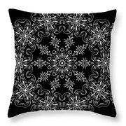 Black And White Medallion 11 Throw Pillow