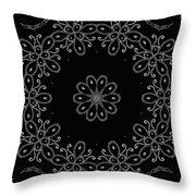 Black And White Medallion 4 Throw Pillow