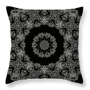 Black And White Medallion 6 Throw Pillow