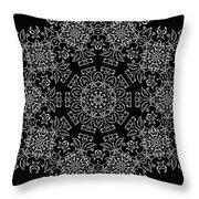 Black And White Medallion 7 Throw Pillow