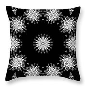 Black And White Medallion 9 Throw Pillow