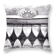 Black And White Mercury Throw Pillow