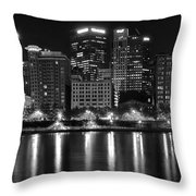 Black And White Night In Pa Throw Pillow