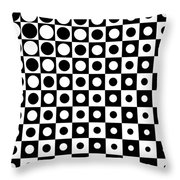 Black And White, No. 1 Throw Pillow