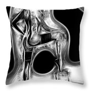 Black And White Nude Throw Pillow