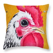 Black And White Nugget Throw Pillow