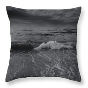 Black And White Ocean Wave 2014 Throw Pillow