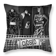 Black And White Outdoor Clothing Display Throw Pillow