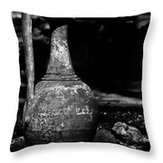 Black And White Pitcher Throw Pillow