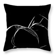 Black And White Pleasure Throw Pillow