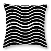 Black And White Postage Throw Pillow