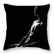Black And White Profile Throw Pillow