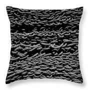 Black And White Rope Stack Throw Pillow