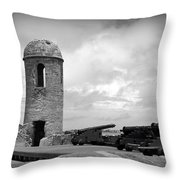 Black And White Sentinel Throw Pillow