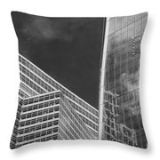 Black And White Skyscrapers Throw Pillow