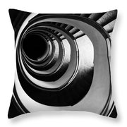 Black And White Spirals Throw Pillow