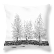Black And White Square Diptych Tree 12-7693 Set 1 Of 2 Throw Pillow
