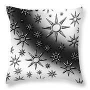 Black And White Suns Throw Pillow