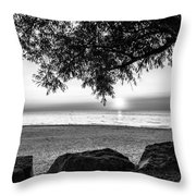 Black And White Sunset Throw Pillow
