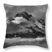 Black And White Tantalus Storms Throw Pillow
