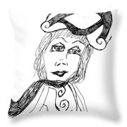 Black And White Two Throw Pillow