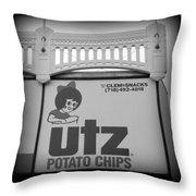 Black And White Utz Sign Throw Pillow