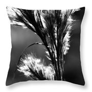 Black And White Vegetation In The Dunes Throw Pillow