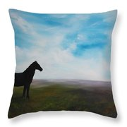 Black As Night In The Light Of Day Throw Pillow