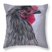 Black Australorp Hen Throw Pillow