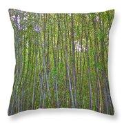 Black Bamboo Heights Throw Pillow
