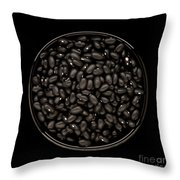 Black Beans In Bowl Throw Pillow