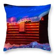 Black Bear Cabin Throw Pillow