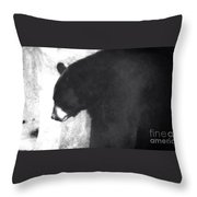 Black Bear Profile Throw Pillow