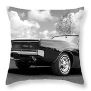 Black Beaut - Charger R/t Throw Pillow