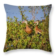 Black-bellied Whistling Ducks Throw Pillow
