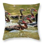 Black-bellied Whistling Ducks Throw Pillow