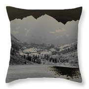 Black Bells Throw Pillow