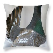 Black-billed Capercaillie Displaying Throw Pillow