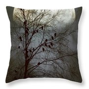 Black Birds Singing In The Dead Of Night Throw Pillow