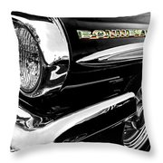 Black Bonneville Throw Pillow