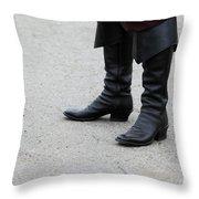 Black Boots Throw Pillow