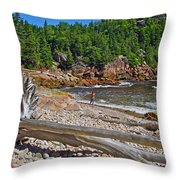 Black Brook In Cape Breton Highlands Np-ns Throw Pillow