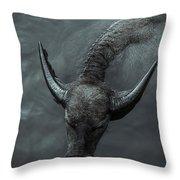 Black Buffalo Throw Pillow
