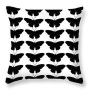 Black Butterflies Throw Pillow