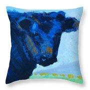 Black Calf Throw Pillow